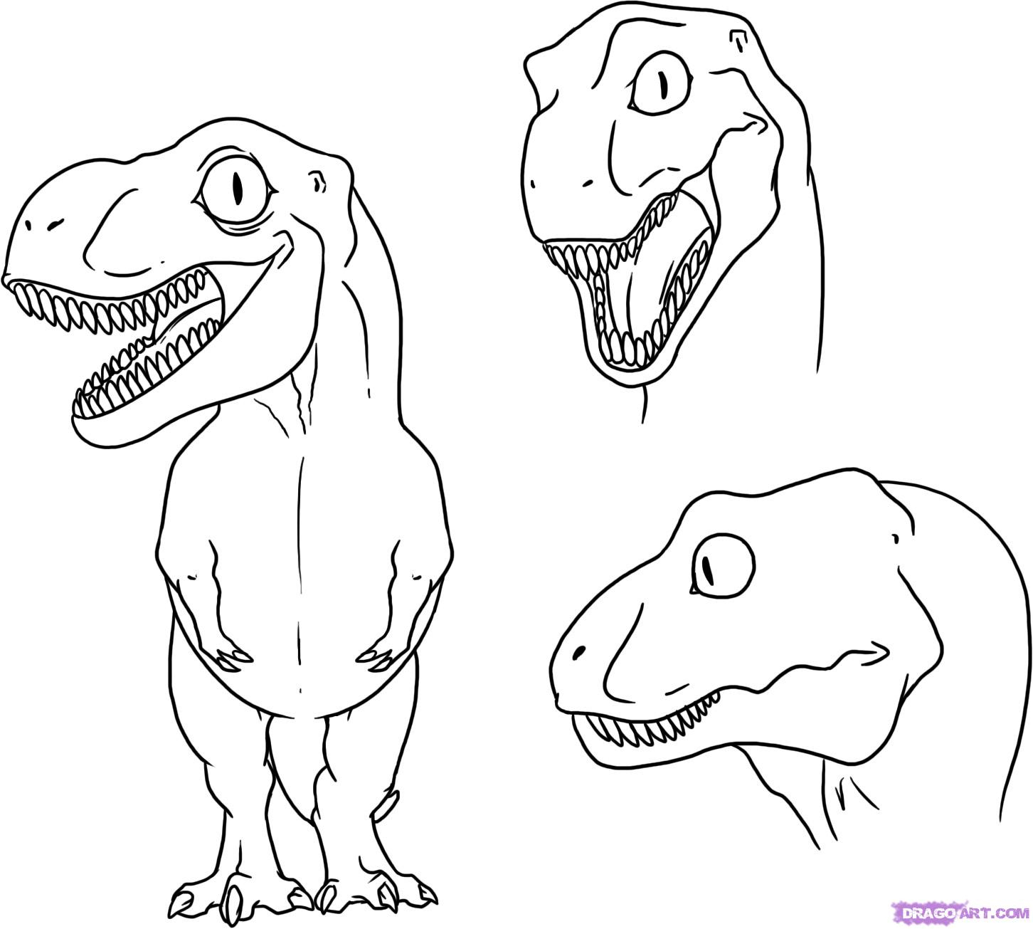1452x1305 Drawing Dinosaurs Step By Step How To Draw A Dinosaur For Kids How