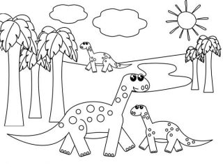 320x240 Drawing Pictures For Kids To Print Kids Drawing Of Dinosaurs