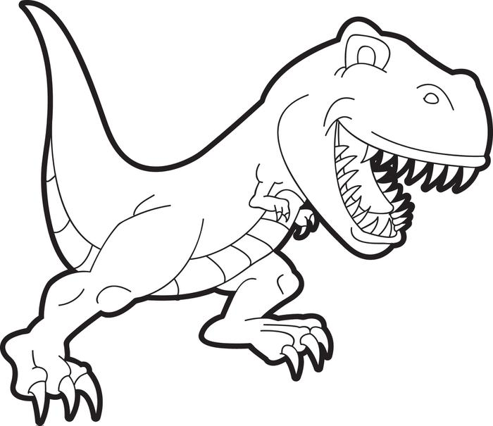 700x605 Free, Printable T Rex Dinosaur Coloring Page For Kids