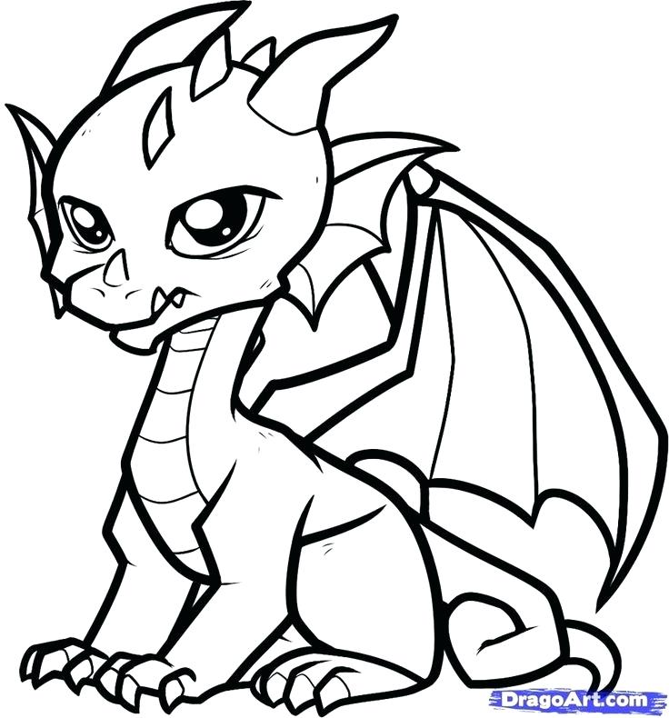 736x790 Outstanding Captivating Dragon Outlines For Drawing New How