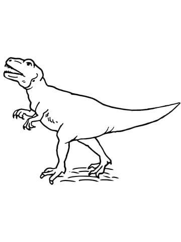 360x480 Allosaurus Theropod Dinosaur Coloring Page Free Printable