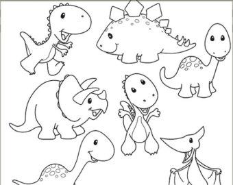 340x270 Cute Dinosaur Clipart Black And White