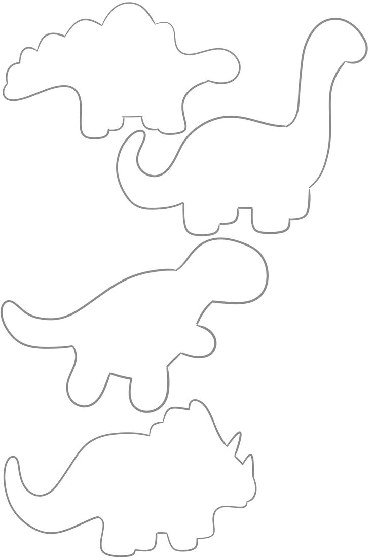 736x1104 Dinosaur Outline