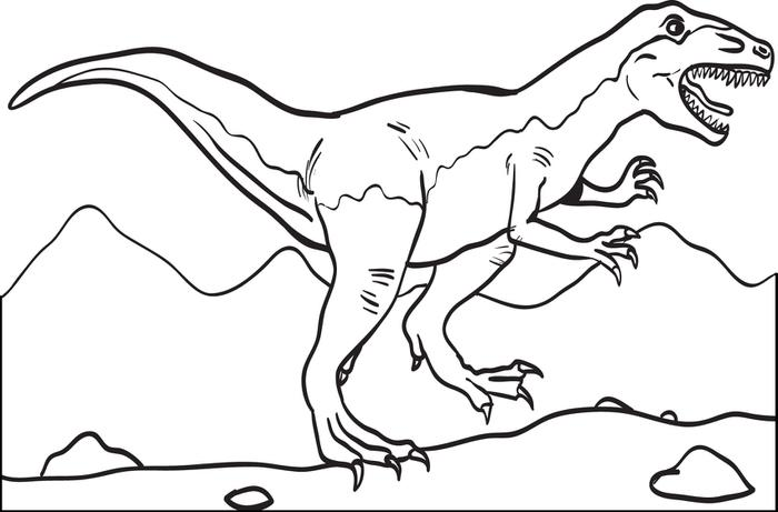 700x461 Free, Printable T Rex Dinosaur Coloring Page For Kids