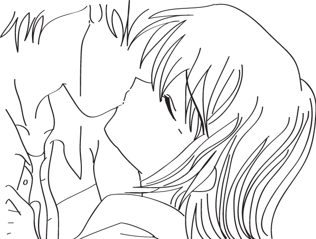 641x484 Kiss Outline By Dinosaur Chan