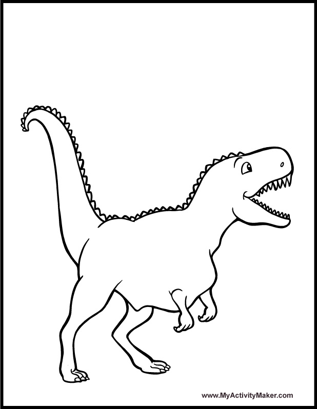 618x798 Best Photos Of T Rex Outline Printable