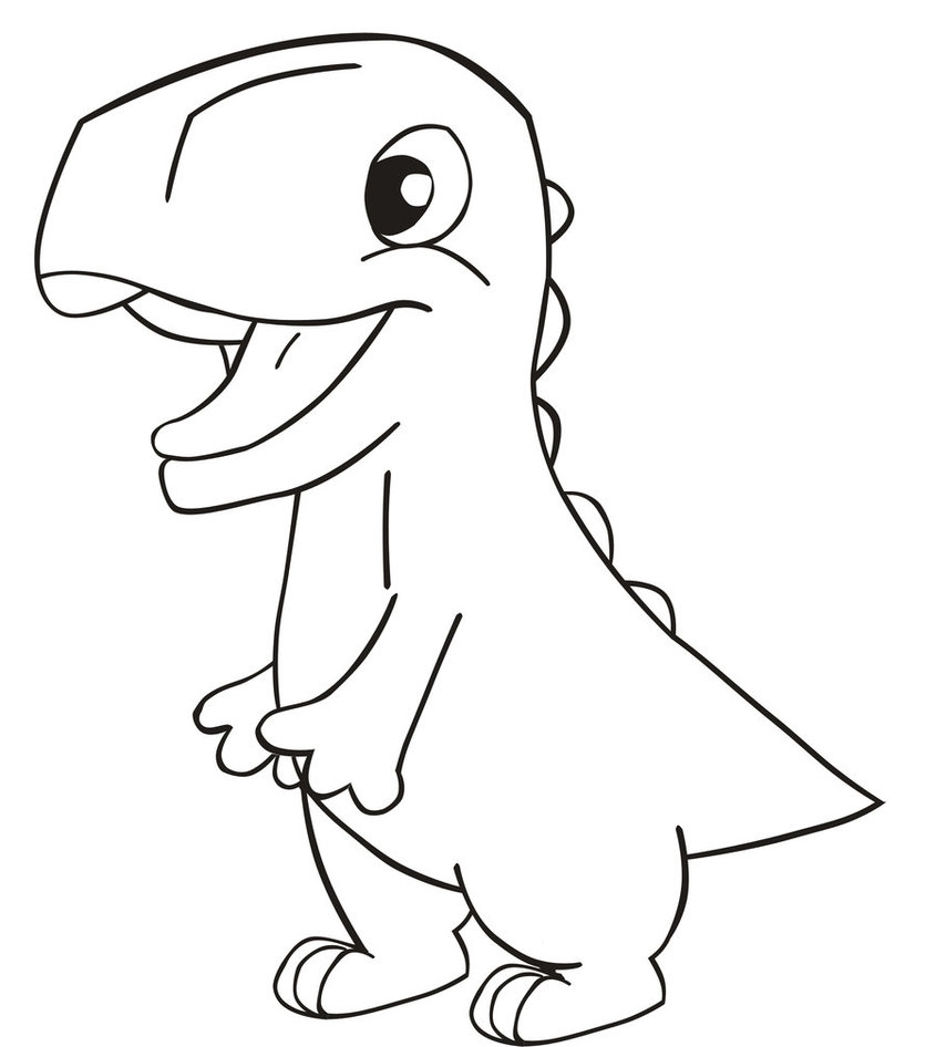 845x946 Drawn Dinosaur Simple Pencil And In Color Drawn Dinosaur Simple