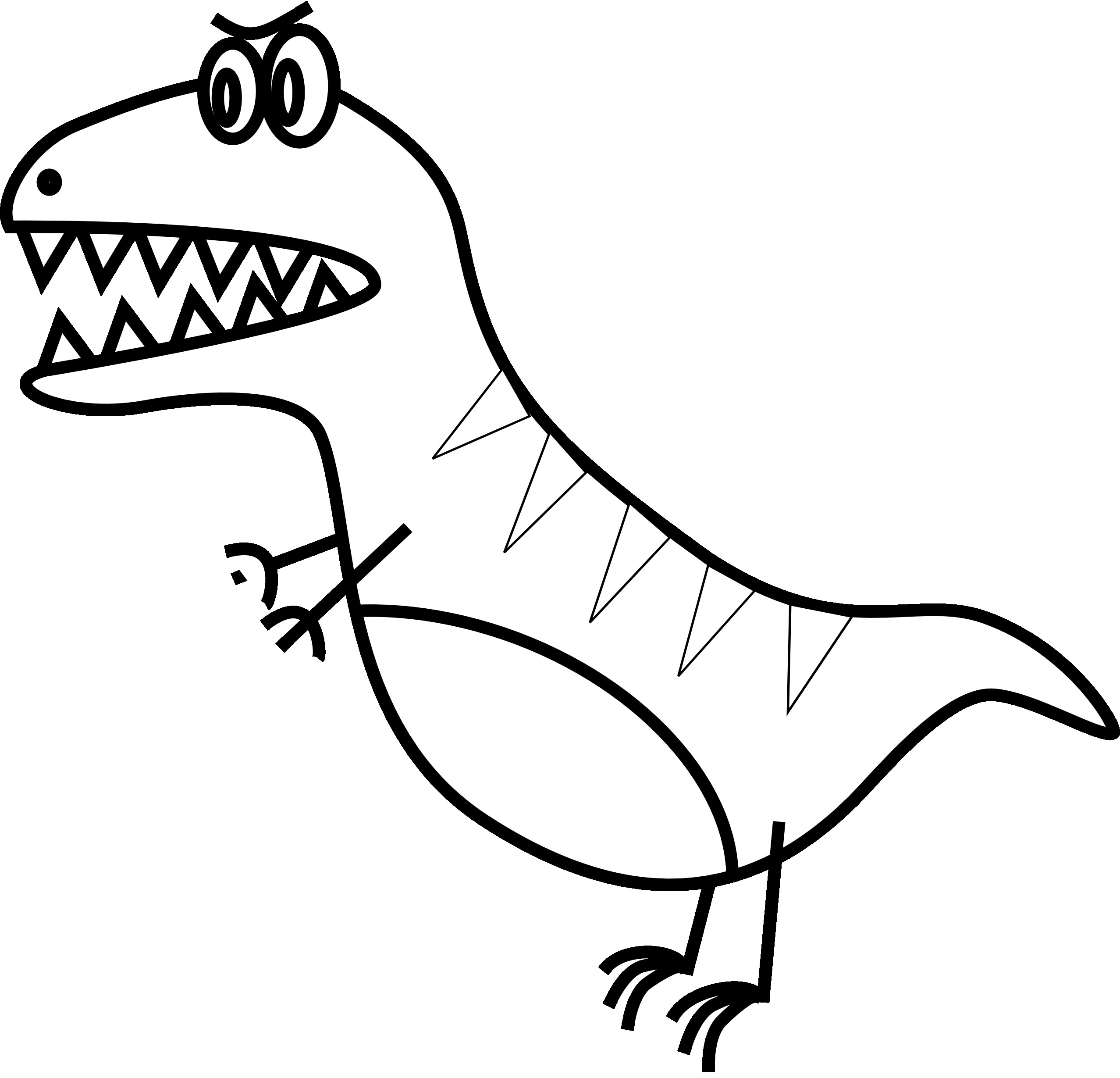 2555x2458 Easy To Draw Dinosaur Free Draw To Color