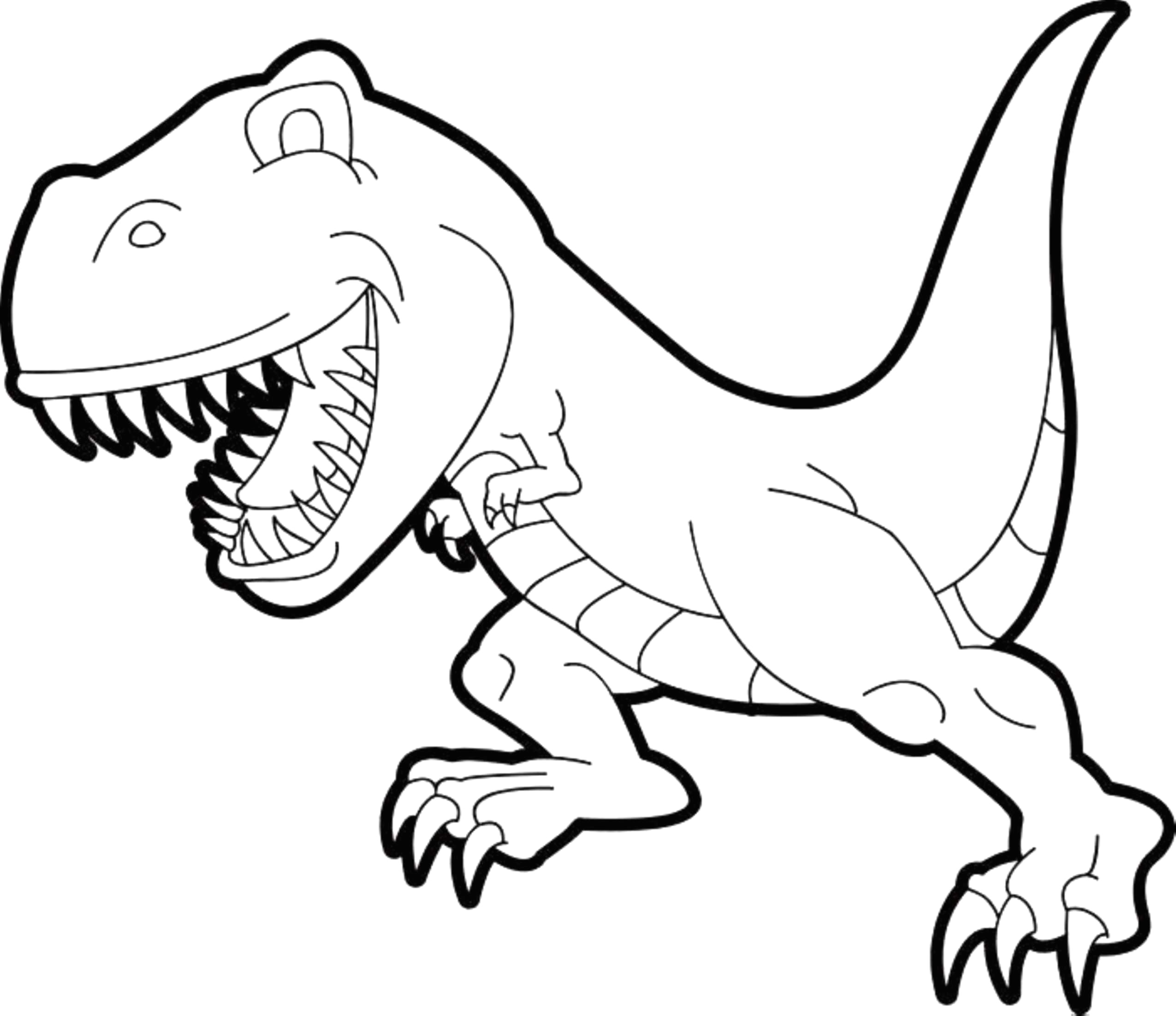 2550x2204 T Rex Dinosaur Coloring Pages For Kids Lovely Triceratops Clipart