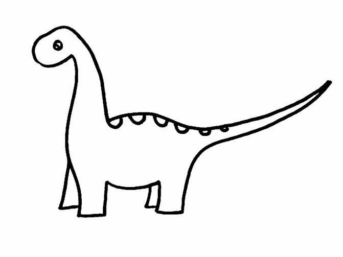 671x503 Coloring Pages Easy Dinosaur Drawings 4 Coloring Pages Easy