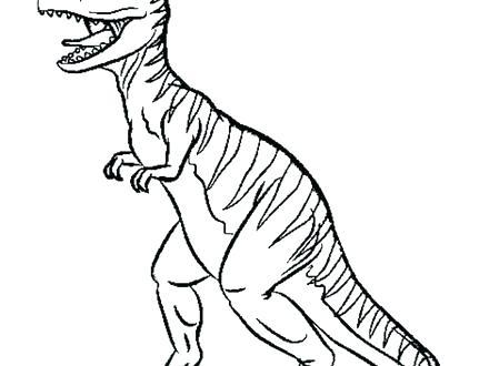 440x330 Creative T Rex Coloring Book Tyrannosaurus Skeleton Outline