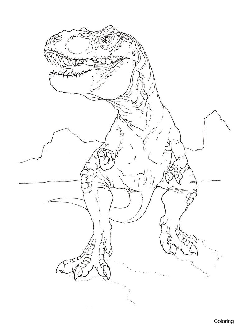 762x1048 Dinosaur T Rex Coloring Pages Tyrannosaurus 24f Pictures For Kids