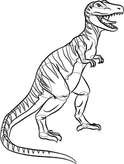 Line Drawing Dinosaur : Dinosaur t rex drawing at getdrawings free for
