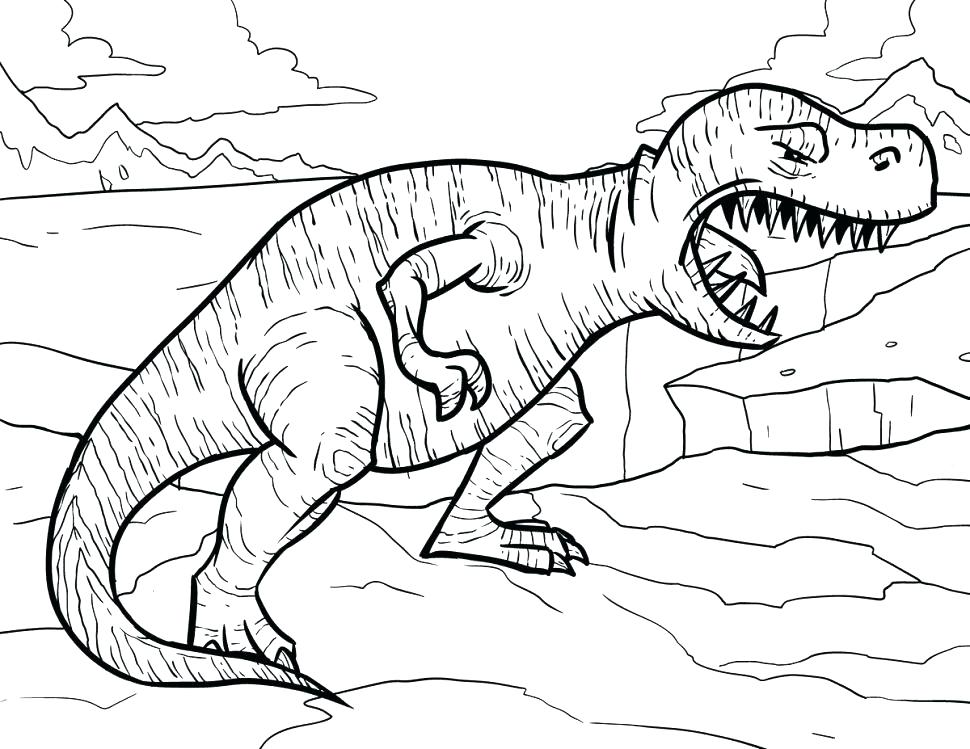 970x749 Tyrannosaurus Coloring Page T Rex Printable Coloring Pages