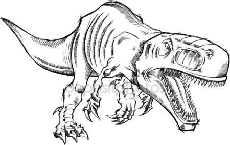 Dinosaur T Rex Drawing At Getdrawings Free Download
