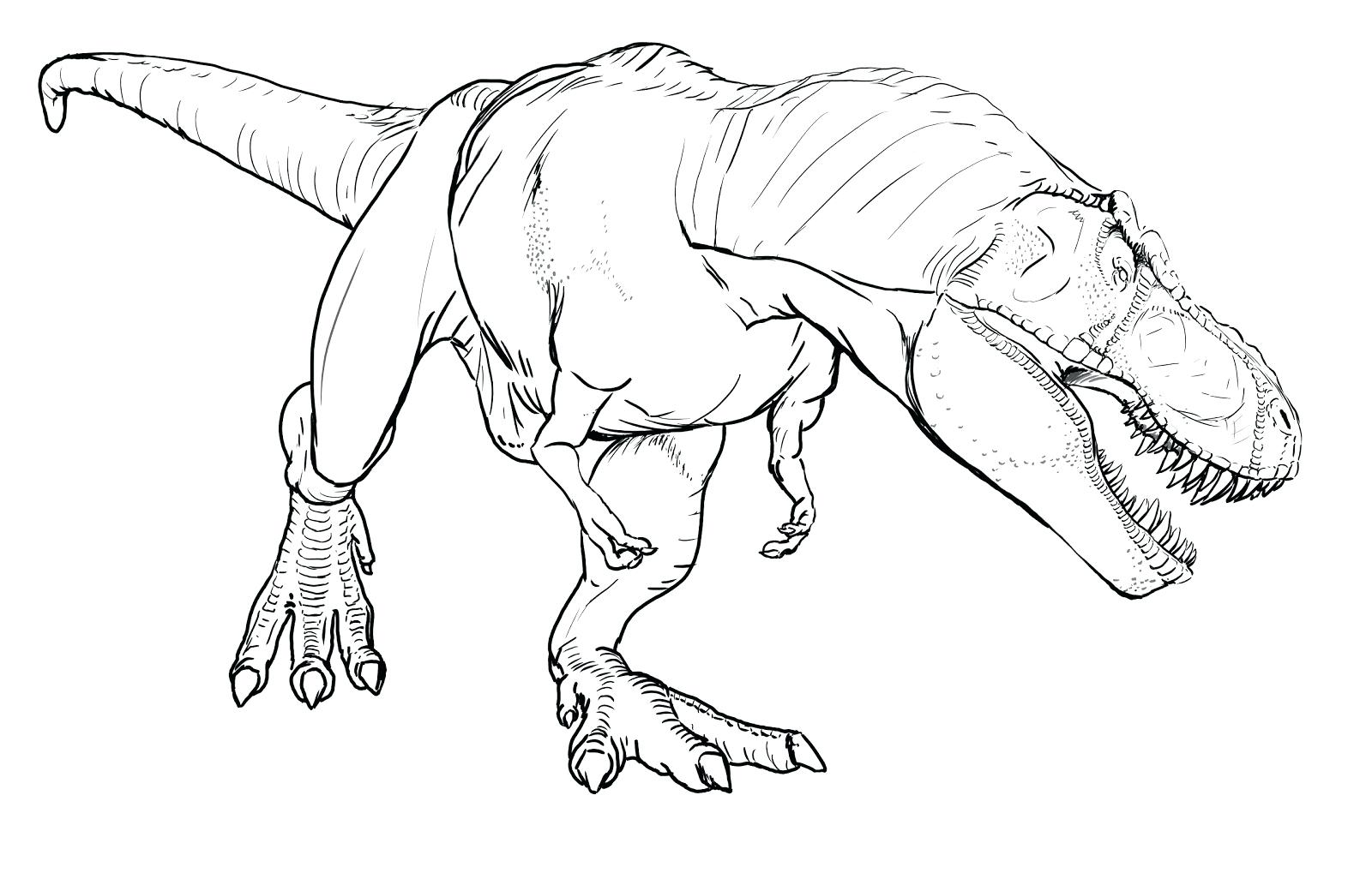 1600x1019 Coloring T Rex Dinosaur Coloring Pages