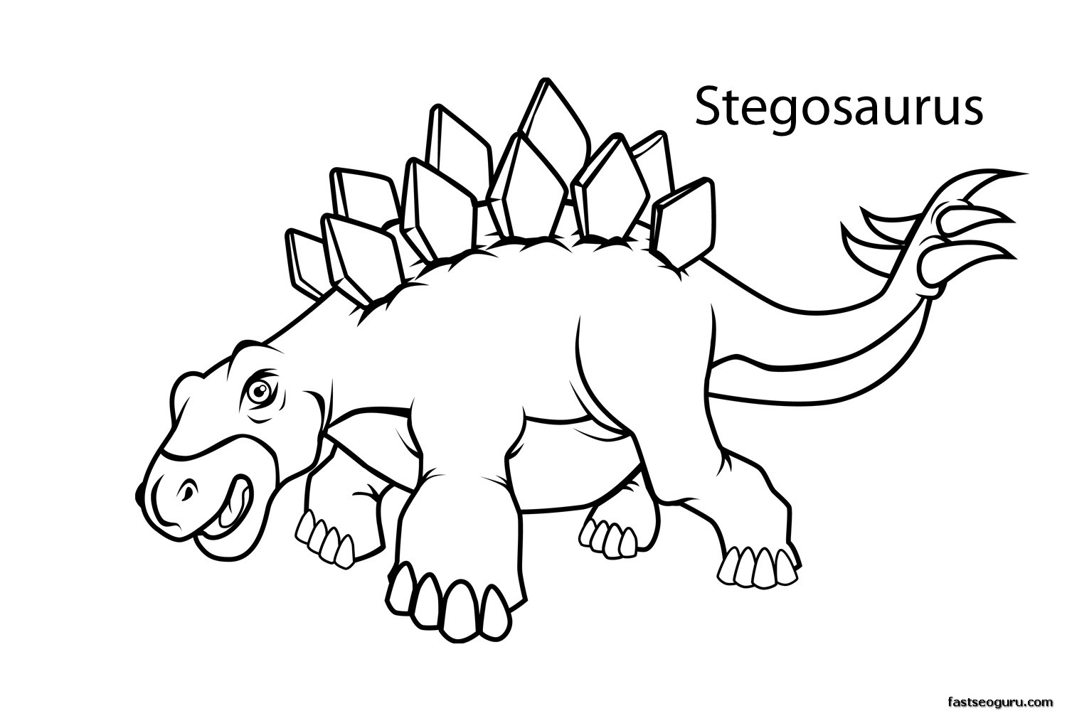 Attractive 1500x1000 Dinosaurs Coloring Pages