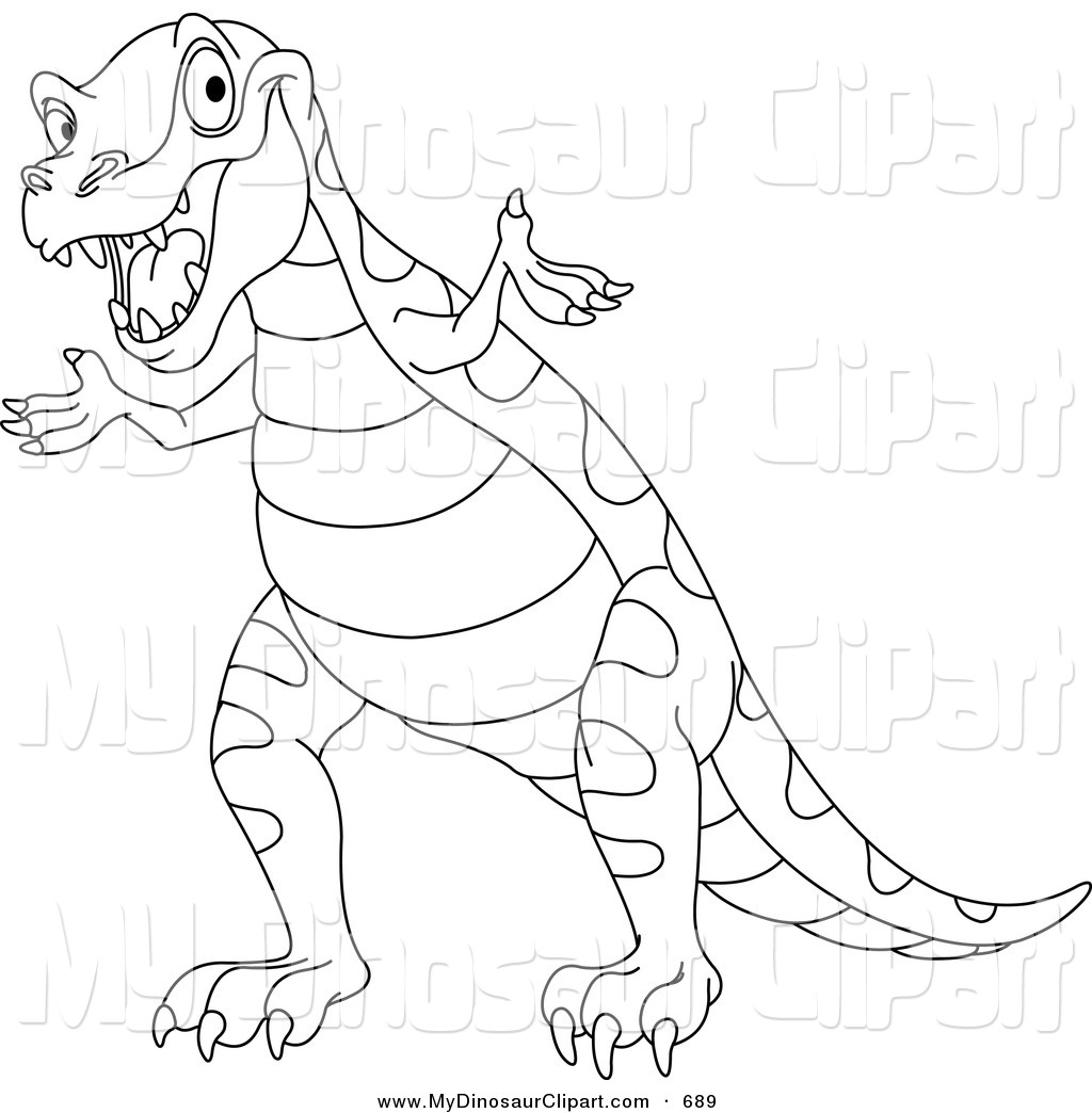 Dinosaur Outline Coloring Pages Go how to draw ice age characters ...
