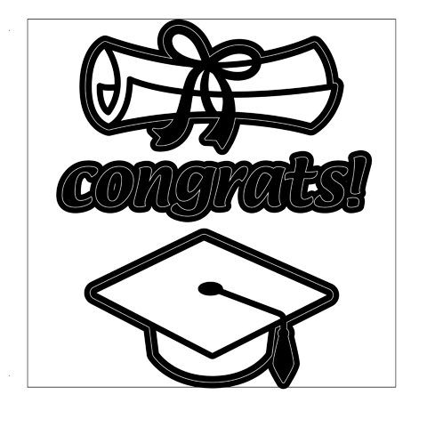 480x480 Craft Dies Congrats, Diploma Amp Graduation Hat