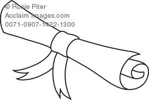 300x203 Diploma Scroll Drawing