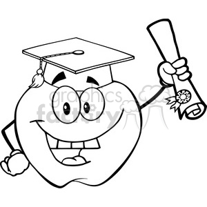 300x300 Royalty Free 6504 Royalty Free Clip Art Black And White Apple