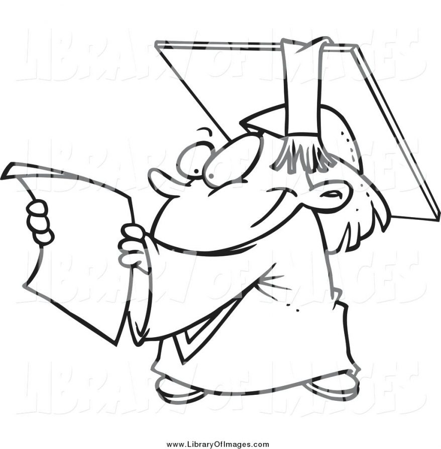 878x895 Graduation Cap And Diploma Picture Coloring Pages. Boy Celebrate