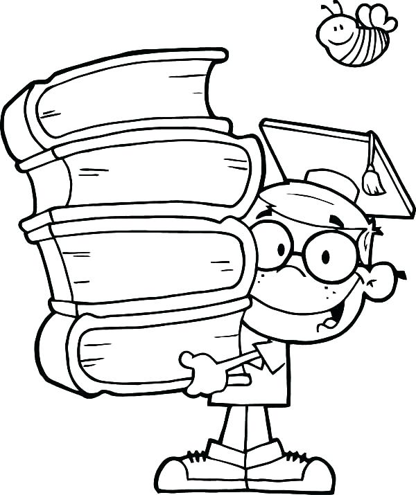 600x715 Best Of Graduation Coloring Pages Images Graduation Coloring Pages