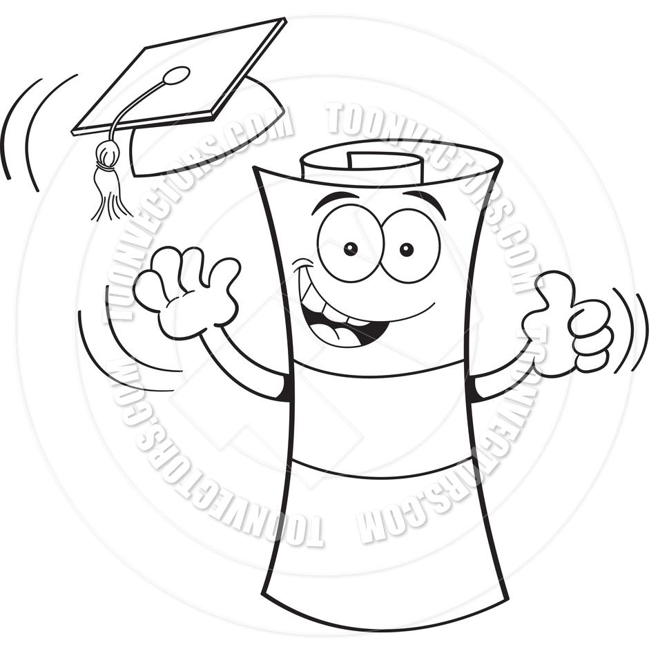 940x940 Cartoon Diploma Graduating By Kenbenner Toon Vectors Eps