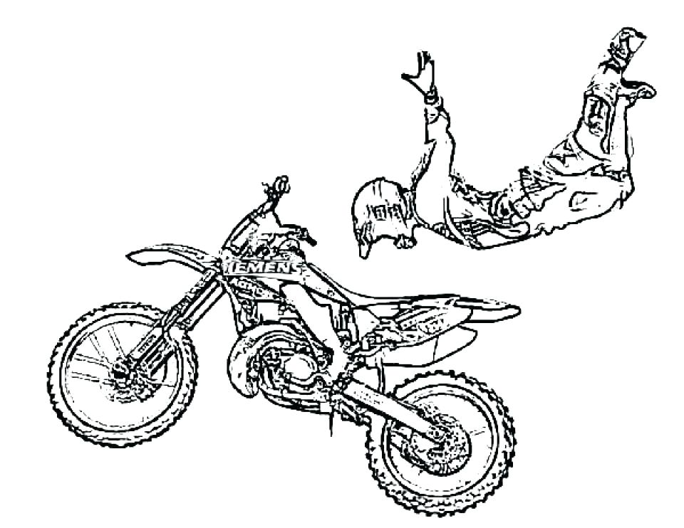 960x742 Dirtbike Coloring Pages Dirt Bike Coloring Pages Free Simple Dirt