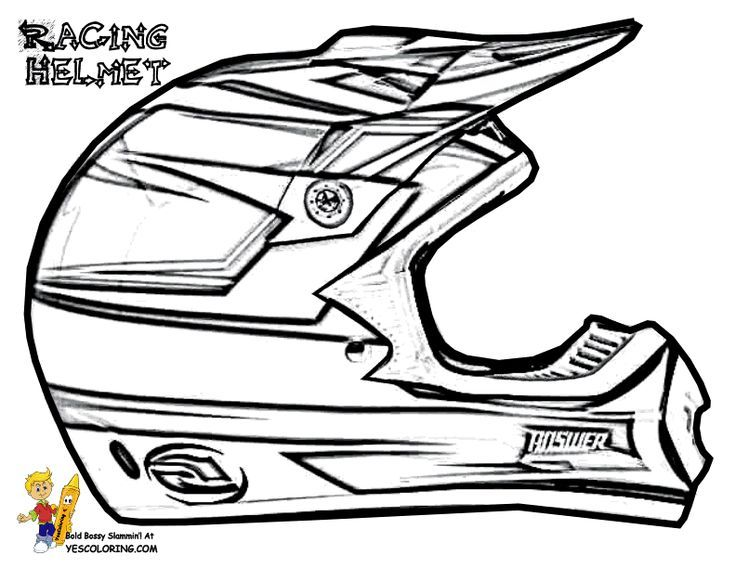 Dirt Bike Helmet Drawing