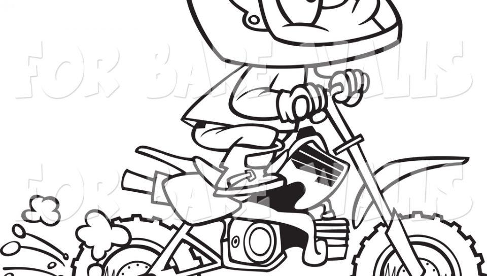 960x544 Dirt Bike Coloring Pages Printable For Kids R1n7l Rider Pdf