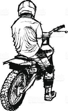 236x386 Dirt Bike Helmet Coloring Page Sketch Template Art