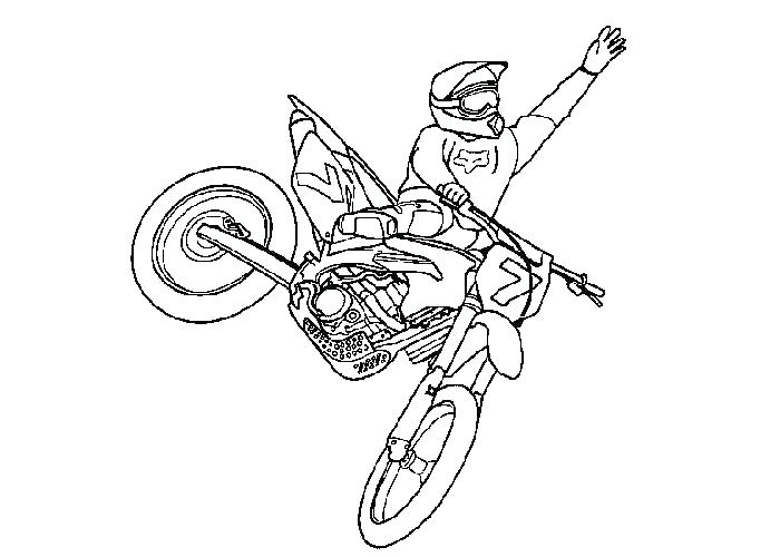 700x500 Dirt Bikes Coloring Pages Bike Helmet Coloring Page Rough Rider