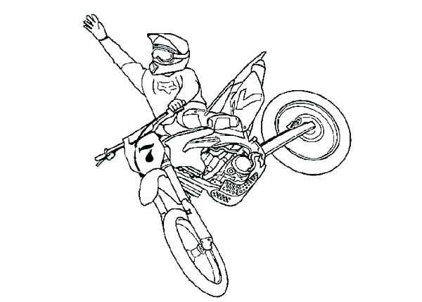 600x429 Dirtbike Coloring Pages Dirt Bike Coloring Pages Free Simple Dirt