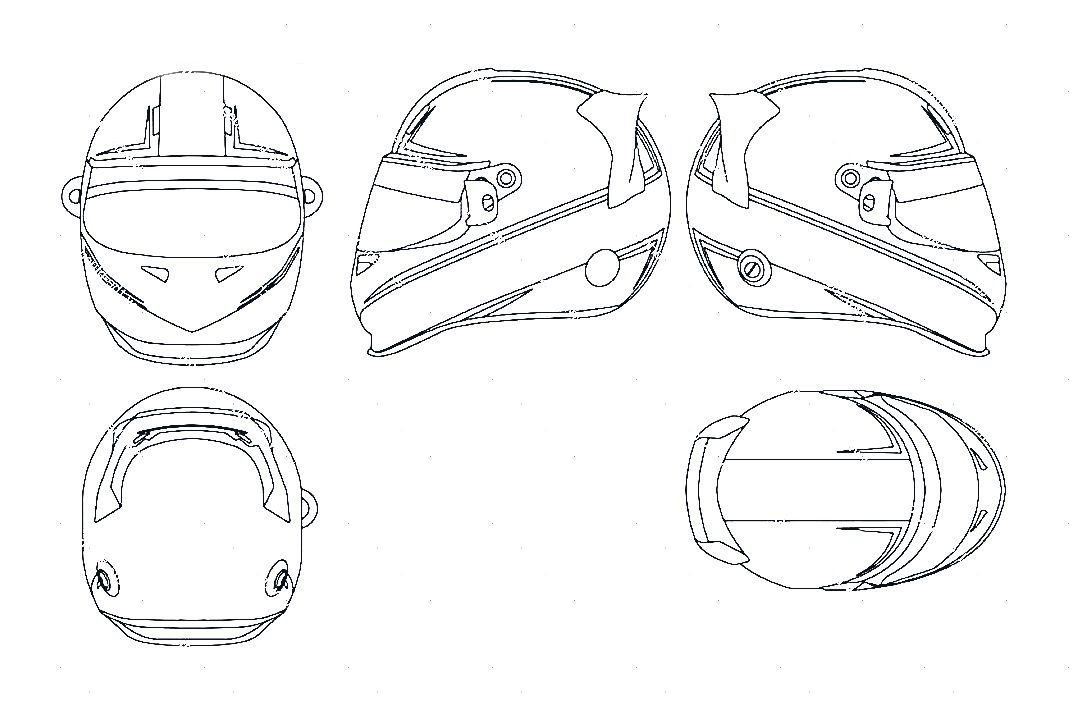 Dirt Bike Helmet Drawing At Getdrawings Com