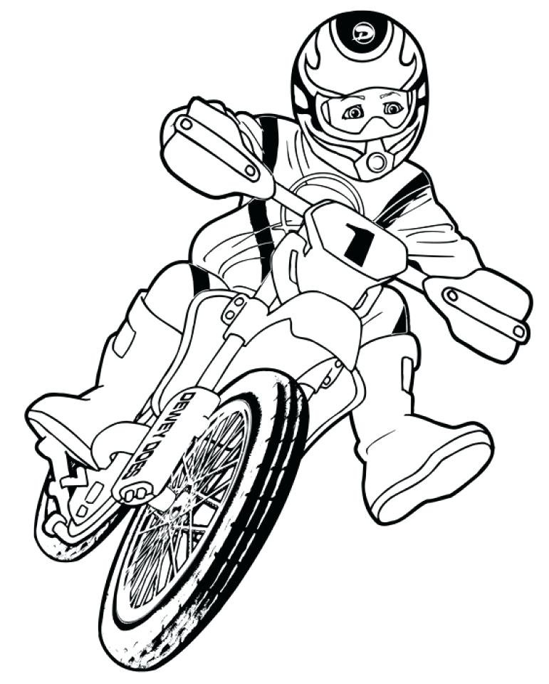 771x960 Bike Helmet Coloring Page 83 Packed With Dirt Bike Coloring Pages