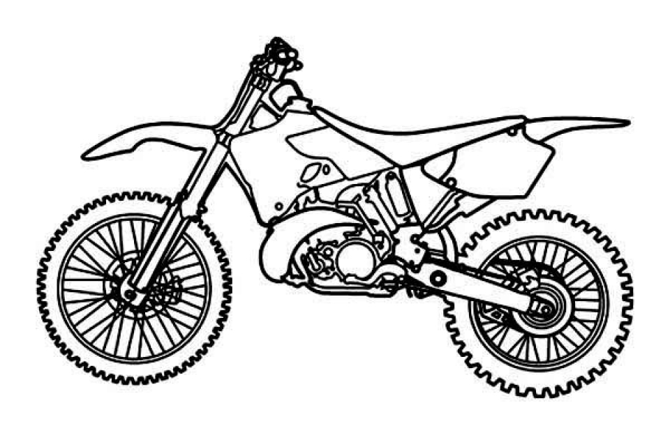960x624 Dirt Bike Coloring Pages