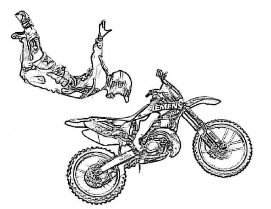 Dirt Bikes Drawing at GetDrawings.com | Free for personal use Dirt ...