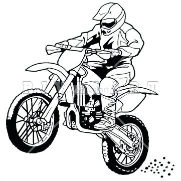 361x361 Dirt Bike Color Pages Dirt Bike How To Draw Dirt Bike Coloring