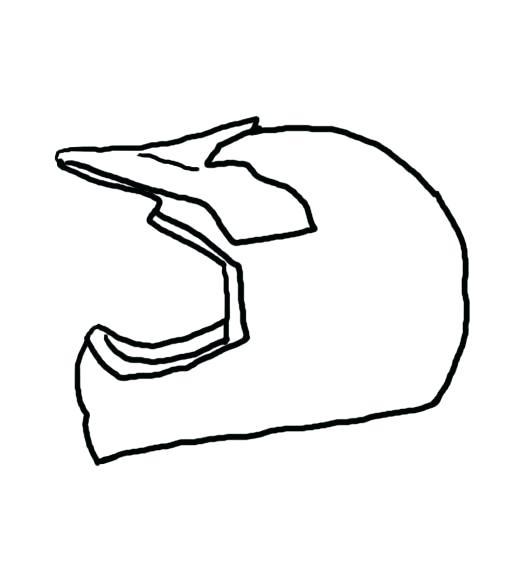 520x564 Dirt Bike Helmet Drawing