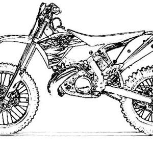 300x300 Dirt Bike Kawasaki 450f Coloring Page Dirt Bike Kawasaki 450f