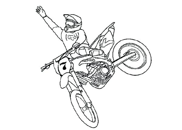 600x429 Fox Dirt Bike Coloring Pages How To Draw Page Sun Best Coloring