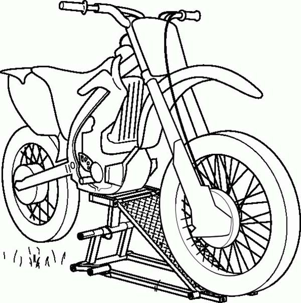 600x605 Repairing Dirt Bike Motorcycle Coloring Page Coloring Sun
