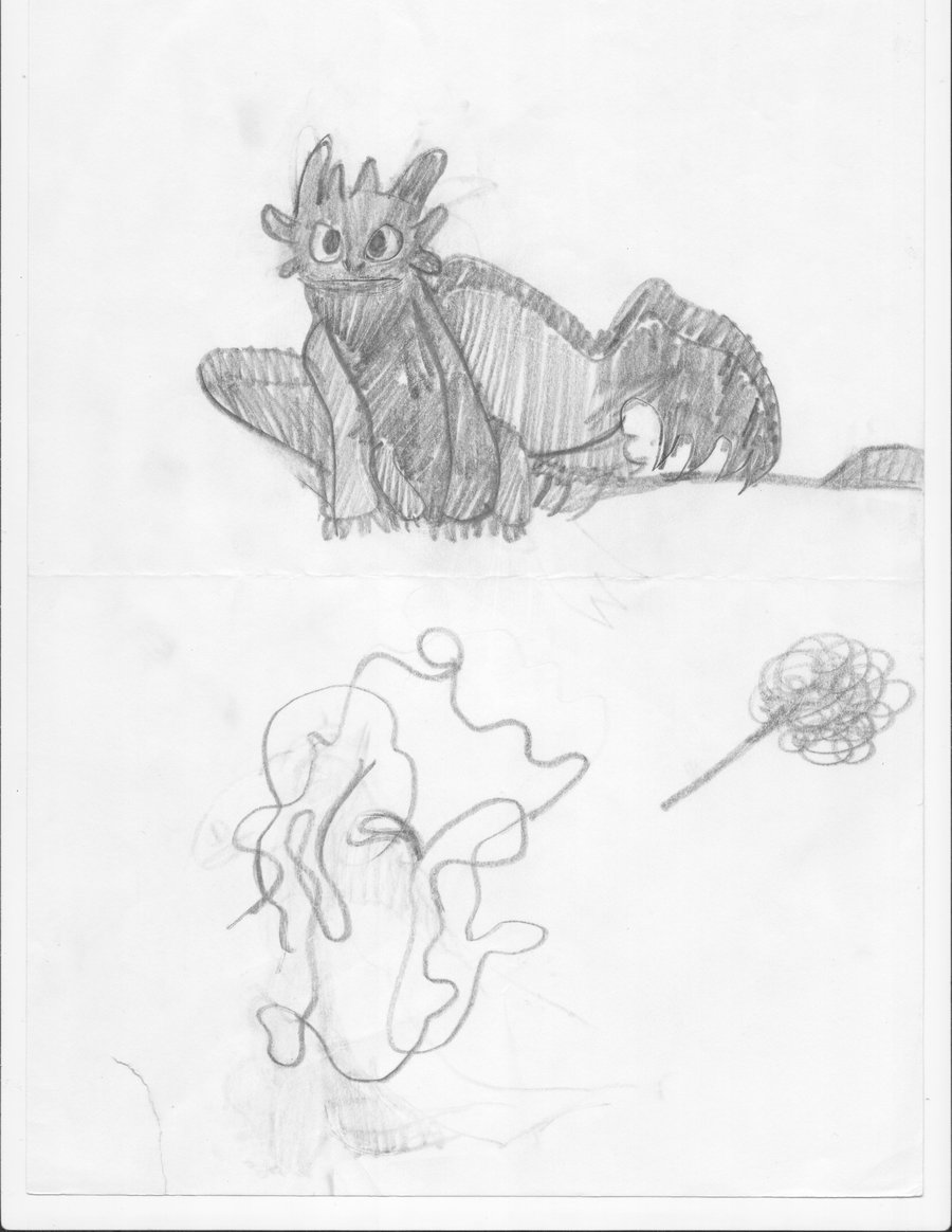 900x1164 Toothless And His Little Dirt Drawing By Foxfire 47133