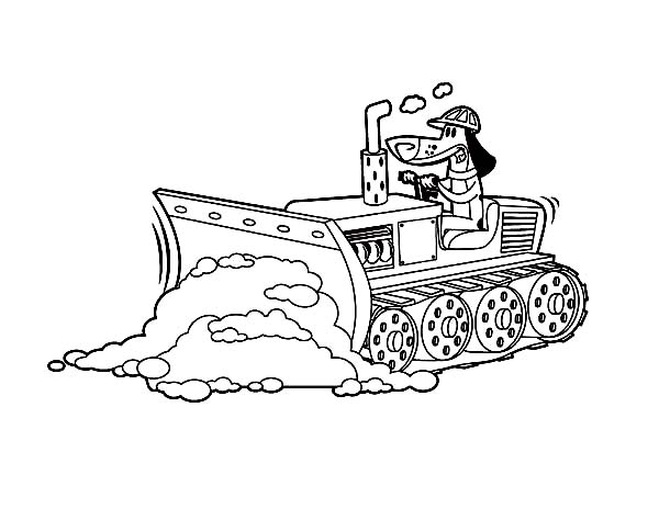 600x464 Bulldozer Pulling Dirt In Digger Coloring Page Color Luna