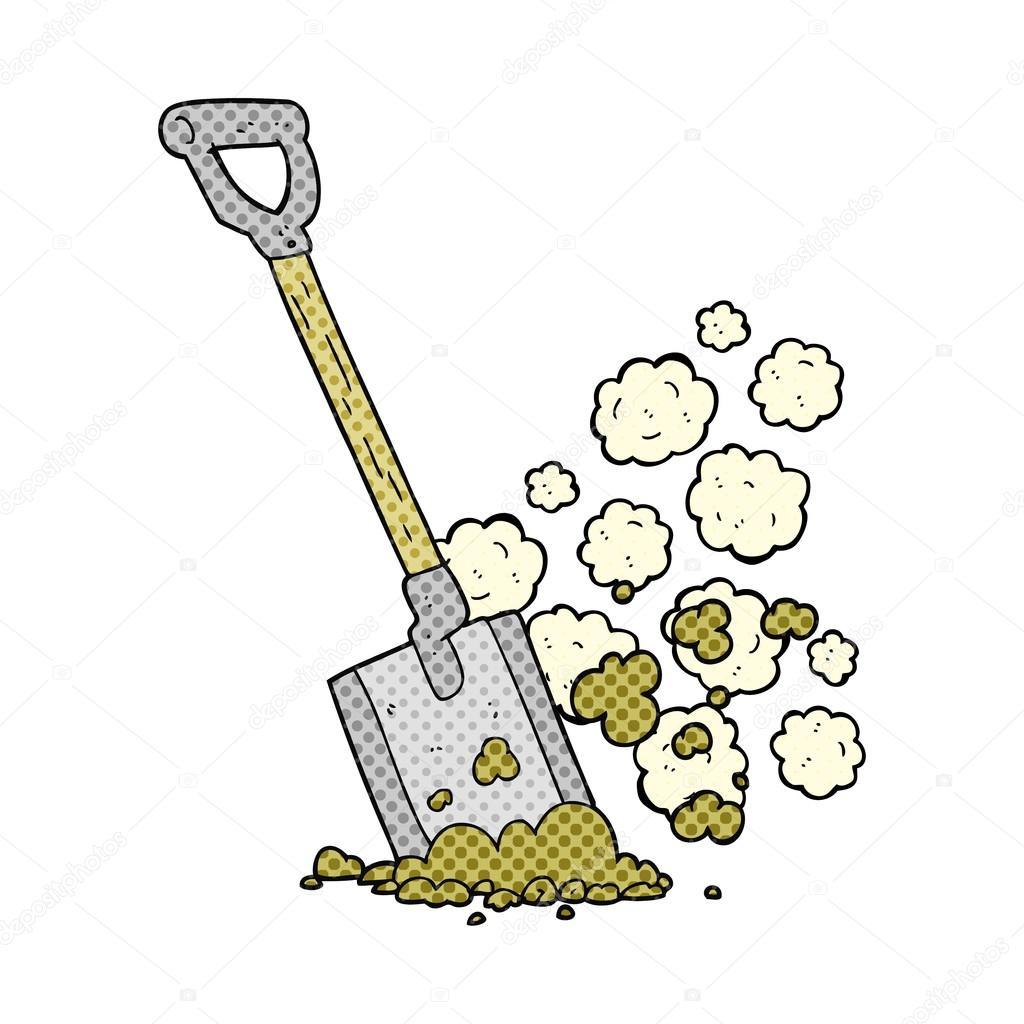 1024x1024 Cartoon Shovel In Dirt Stock Vector Lineartestpilot
