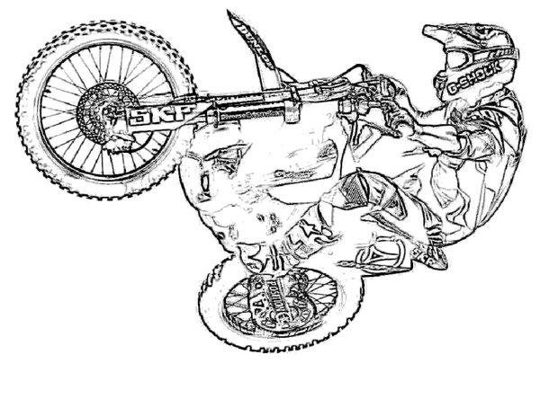 600x464 Cartoon Dirt Bike Dirt Bike Coloring Pages Coloring Pages