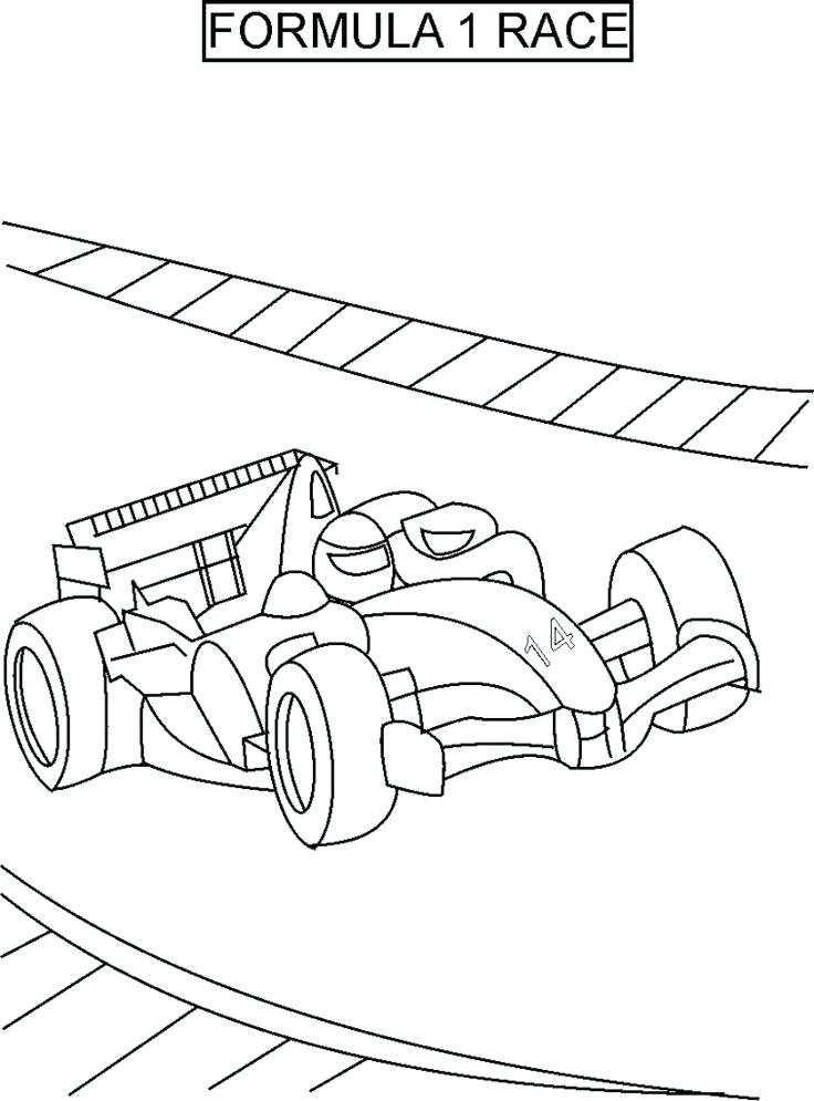 736x995 Sprint Car Coloring Pages Classic