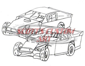 300x233 Dirt Track Coloring Book Ultimate Dirt Track Coloring Book