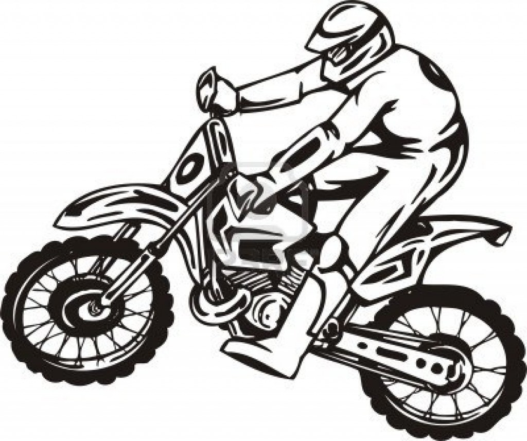 Dirtbike Drawing at GetDrawings.com | Free for personal use ...